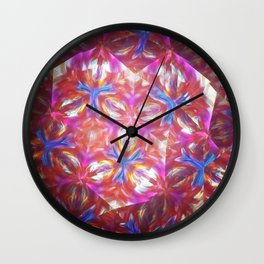 Geometric kelidoscope Wall Clock