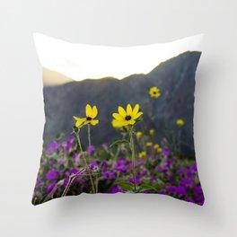 Wildflower Sunset Throw Pillow