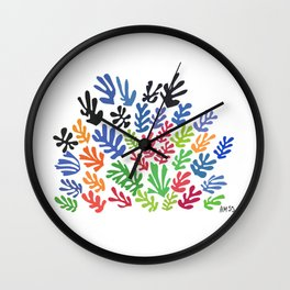 La Gerbe by Matisse Wall Clock