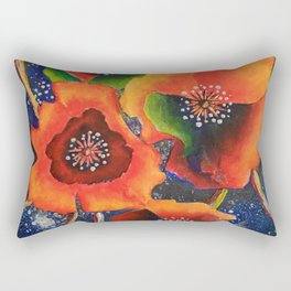 Cosmic Poppies Rectangular Pillow