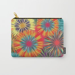 Bright Colorful Abstract Flowers Carry-All Pouch