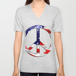 Peace Sign Unisex V-Neck