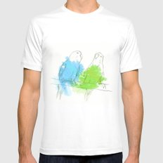 Ink Birds MEDIUM White Mens Fitted Tee