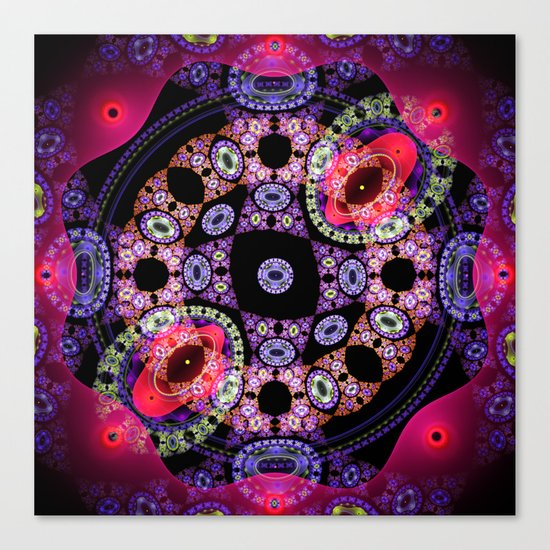 Dance in pink and purple, abstract pattern design Canvas Print