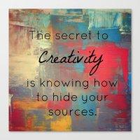 creativity Canvas Prints featuring Creativity by My Joie De Vivre