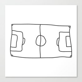 Football in Lines Canvas Print