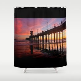 Red Skies At Night ~  8/31/13 Shower Curtain