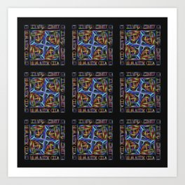 Stained Glass Window Tiles Art Print