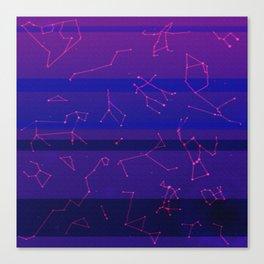 Vapourwave Stars Canvas Print