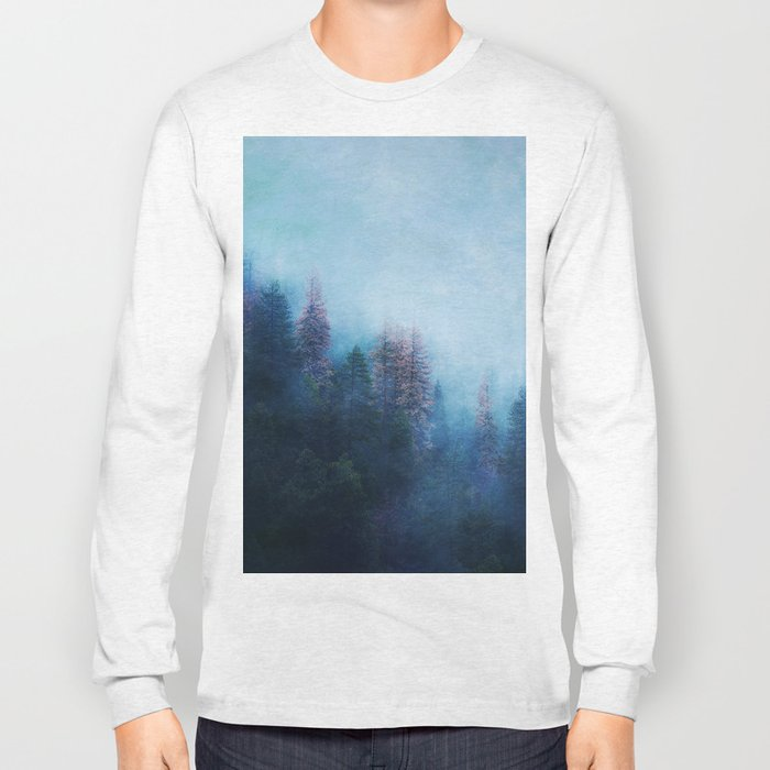 Dreamy Winter Forest Long Sleeve T-shirt