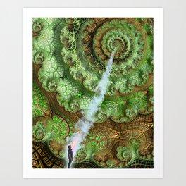 Transcending the Spiral Art Print