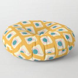 Flower Eggs Yellow Floor Pillow