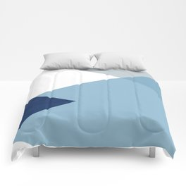 Geometrics - blues & concrete Comforters