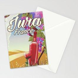 Jura France vineyard vintage travel poster Stationery Cards