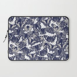 butterfly white Laptop Sleeve