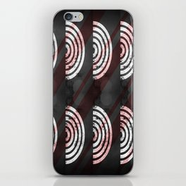 Target Record With Stripes iPhone Skin