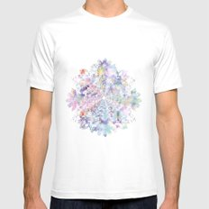 FLORAL Mens Fitted Tee MEDIUM White