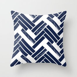 Modern Chevron - Blue Throw Pillow