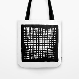 black and white screen Tote Bag