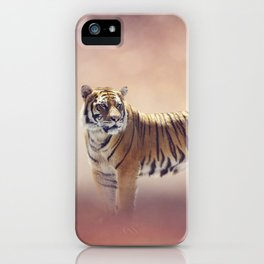 White And Brown Bengal Tigers iPhone Case