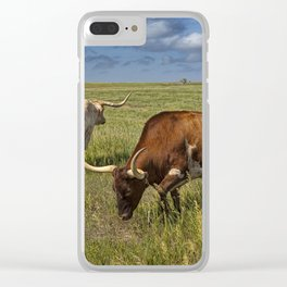 Longhorns on the Prairie Clear iPhone Case