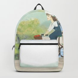 A girl cycling in Spring  Backpack