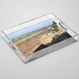 Quiet Cliff at Grand Canyon Acrylic Tray
