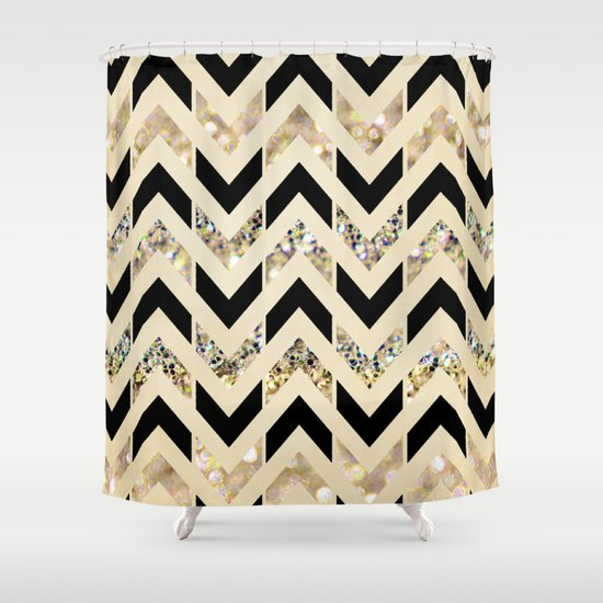 Stunning Black And Gold Shower Curtain Set Images - 3D house ...