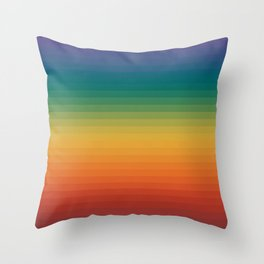 Colorful Stripes Abstract Rainbow Pattern Trendy Colors Throw Pillow