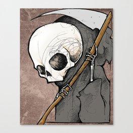 Death scribble Canvas Print
