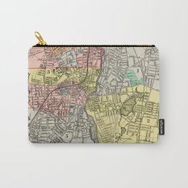 Vintage Map of Pawtucket RI (1900) Carry-All Pouch