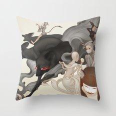 Internal Conflict Throw Pillow