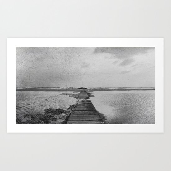 Storm in the beach Art Print