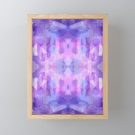 Purple Amethyst Framed Mini Art Print