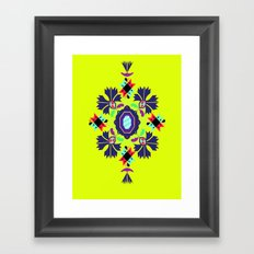 nine flowers 1 Framed Art Print
