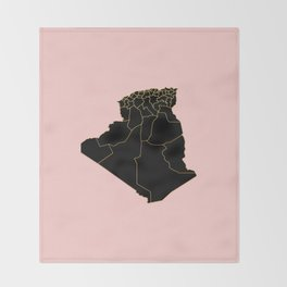 Algeria map Throw Blanket