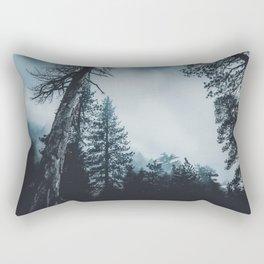 Dark misty forest Rectangular Pillow