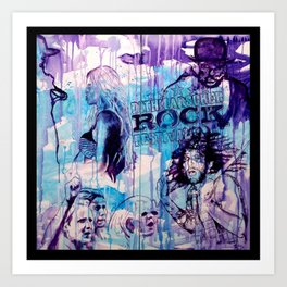 ROCK - with WARNER DRIVE Art Print