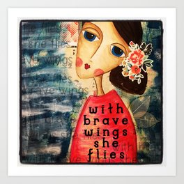 Coco's Closet- With Brave Wings She Flies Art Print
