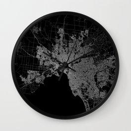Melbourne map Australia Wall Clock