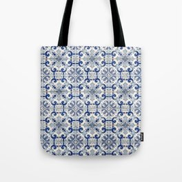 Portuguese tiles pattern blue Tote Bag