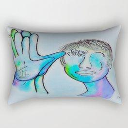 ASL Grandfather in Blue Overtones Rectangular Pillow
