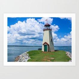 The Lake Hefner Lighthouse, Oklahoma City Art Print