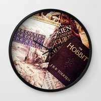 tolkien Wall Clocks featuring Tolkien Books by Apples and Spindles