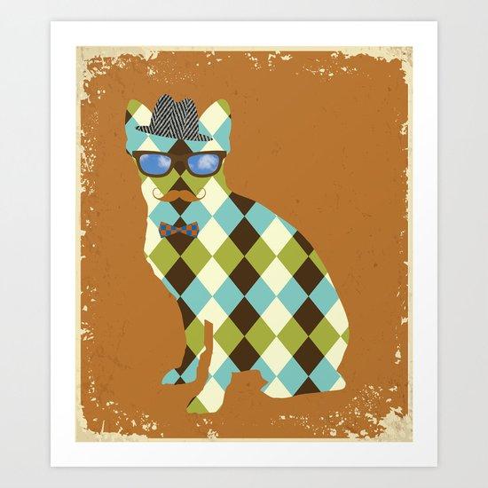 Argyle Terrier Art Print