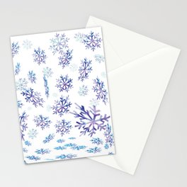 Snowflakes falling Stationery Cards