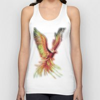 phoenix Tank Tops featuring phoenix by OLHADARCHUK
