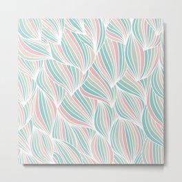 Cool Colorful Ocean Waves Metal Print