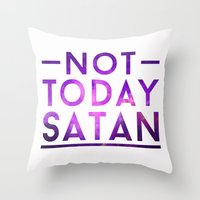 rupaul Throw Pillows featuring NOT TODAY SATAN by GLAMAZON