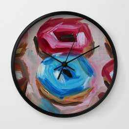 Donuts, desert, sweet Wall Clock